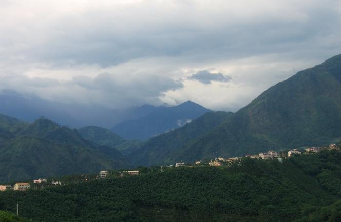 Montagnes de Taïwan où sont produits les Wu Long
