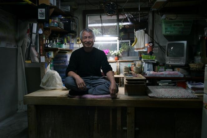 L'atelier de Hattori Koji-San, maître-potier à Kyoto.