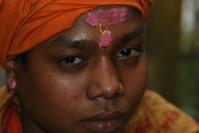 Prêtre shivaïte près du temple de Darjeeling