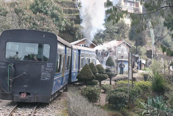 Toy-Train à l'arrêt pour le plaisir des touristes