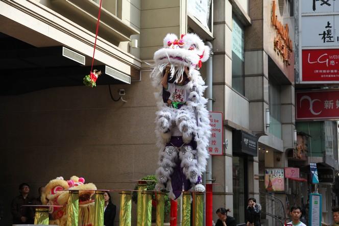 La danse du lion, une festivité du nouvel an chinois