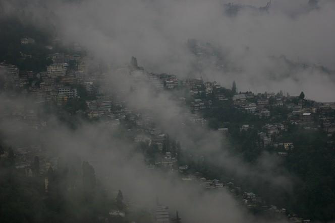 Un orage de grêle s'est abattu sur Darjeeling
