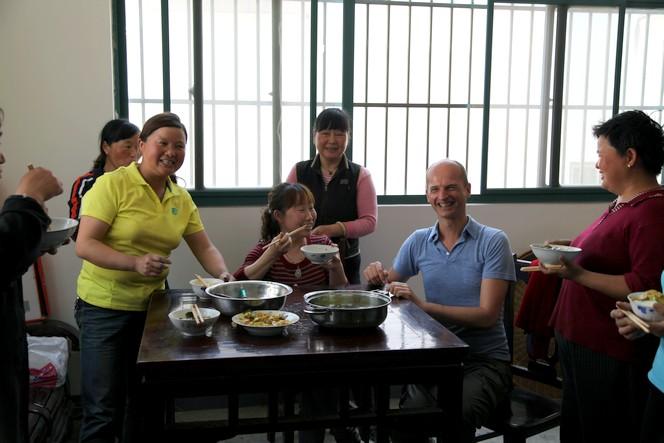 Le temps du repas dans les usines de thé