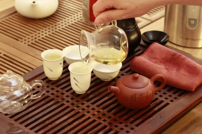 Bateau à thé utilisé pour préparer le thé en chine