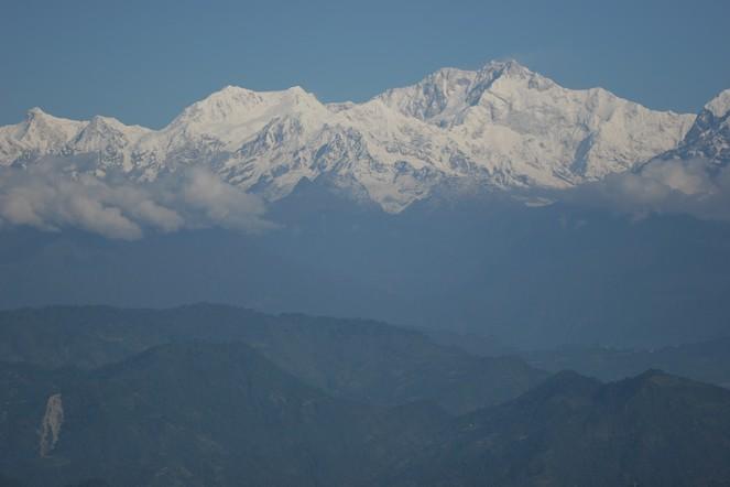 Vue sur le massif du Kanchenjunga