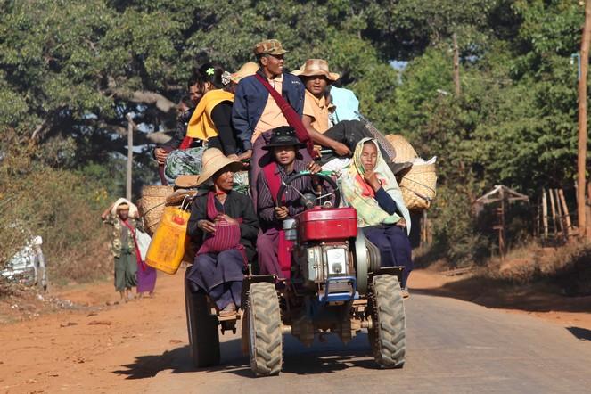 En route vers l'Etat Shan et les montagnes du Triangle d'Or