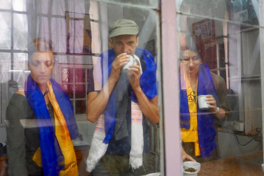 Avec Nathanaelle et Manuela à Darjeeling