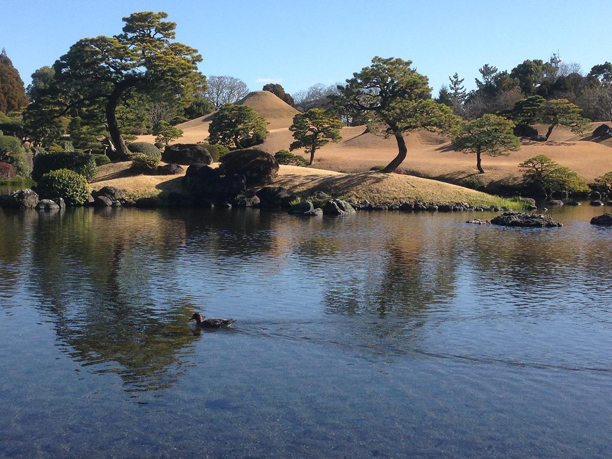 À Kumamoto, le jardin Suizen-ji