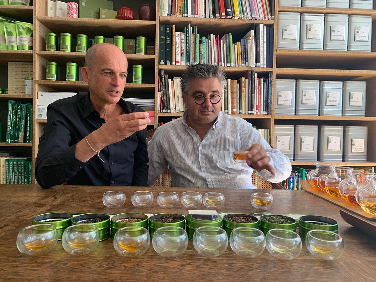 Avec Frédéric Bau, pâtissier-chocolatier, créateur de l'Ecole Valrhona